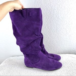 Gianni Bini Purple Suede Boots